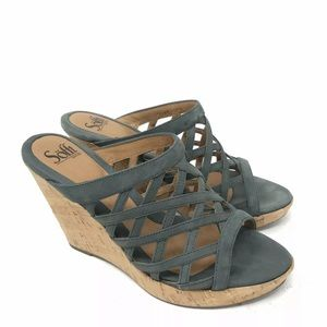 Sofft Shoes Trieste Weave Leather Wedge Sandals